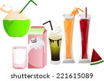 drinks | Shutterstock .eps vector #221615089