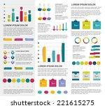 infographics set elements.... | Shutterstock .eps vector #221615275