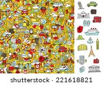 find right travel icons  visual ... | Shutterstock .eps vector #221618821