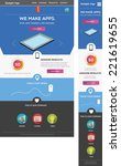 responsive web template | Shutterstock .eps vector #221619655