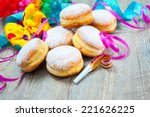 Krapfen Or Donuts With Jam And...