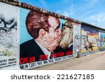 Stock photo berlin germany september berlin wall graffiti seen on september berlin east side 221627185