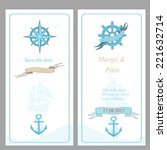 wedding invitation and save the ... | Shutterstock .eps vector #221632714