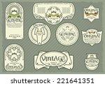 vector set of label templates... | Shutterstock .eps vector #221641351