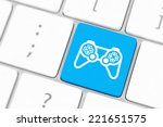 computer keyboard with  icon... | Shutterstock . vector #221651575