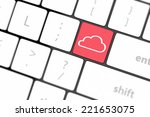 cloud computing concept on... | Shutterstock . vector #221653075