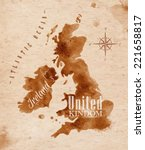 Map Of United Kingdom And...