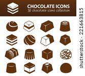 chocolate icons | Shutterstock .eps vector #221663815