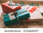 classy christmas gifts box... | Shutterstock . vector #221664037