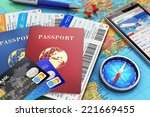 business travel and tourism... | Shutterstock . vector #221669455