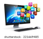 creative abstract computer web... | Shutterstock . vector #221669485
