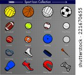 sport icons. colored pictograms.... | Shutterstock .eps vector #221670655