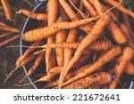 Fresh Crop Of Organic Carrot On ...
