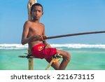 unawatuna  sri lanka   march 9  ... | Shutterstock . vector #221673115