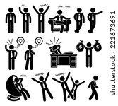 successful happy businessman... | Shutterstock . vector #221673691