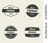 abstract black friday labels on ... | Shutterstock .eps vector #221683561