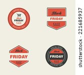 abstract black friday labels on ...   Shutterstock .eps vector #221685937
