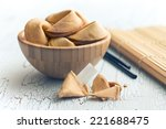 the fortune cookie on the... | Shutterstock . vector #221688475