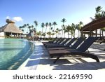 Poolside at Tropical Resort - stock photo