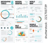 infographic tools 8   human and ... | Shutterstock .eps vector #221703739