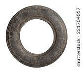 Small Dirty Old Tire Isolated...