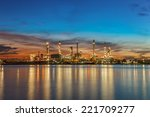 oil refinery industry plant... | Shutterstock . vector #221709277
