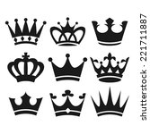 crown icons | Shutterstock .eps vector #221711887