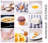 tart apricot jam  collage of... | Shutterstock . vector #221724631
