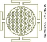 flower of life  yantra | Shutterstock .eps vector #221728915
