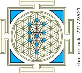 flower of life  tree of life ... | Shutterstock .eps vector #221728921