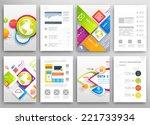 set of flyer  brochure design... | Shutterstock .eps vector #221733934