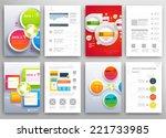 set of flyer  brochure design... | Shutterstock .eps vector #221733985