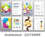 set of flyer  brochure design... | Shutterstock .eps vector #221734009