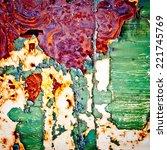 grunge background. rusty metal... | Shutterstock . vector #221745769
