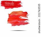 vector watercolor texture.wet... | Shutterstock .eps vector #221763535