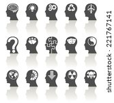 thinking heads icons | Shutterstock .eps vector #221767141