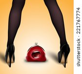 Women's Legs In Stockings And...