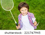 little champion. top view of... | Shutterstock . vector #221767945