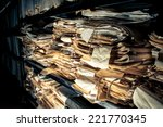 paper documents stacked in... | Shutterstock . vector #221770345