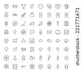 thin line icons for leisure ... | Shutterstock . vector #221771671
