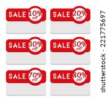 discount and sale label... | Shutterstock .eps vector #221775697