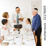 friday evening jewish family... | Shutterstock . vector #22178005