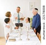 friday evening jewish family...   Shutterstock . vector #22178008