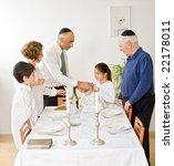 friday evening jewish family...   Shutterstock . vector #22178011