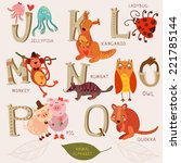 Cute Animal Alphabet. J  K  L ...