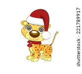 leopards. abstract vector... | Shutterstock .eps vector #221789917