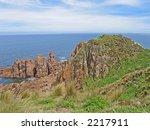Coastal view (Philip island, Victoria, Australia) - stock photo