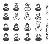 people occupation icons  mono... | Shutterstock .eps vector #221793751