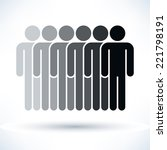 grayscale logotype six people ... | Shutterstock .eps vector #221798191