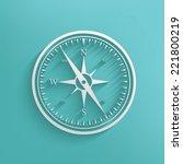 compass symbol on blue... | Shutterstock .eps vector #221800219